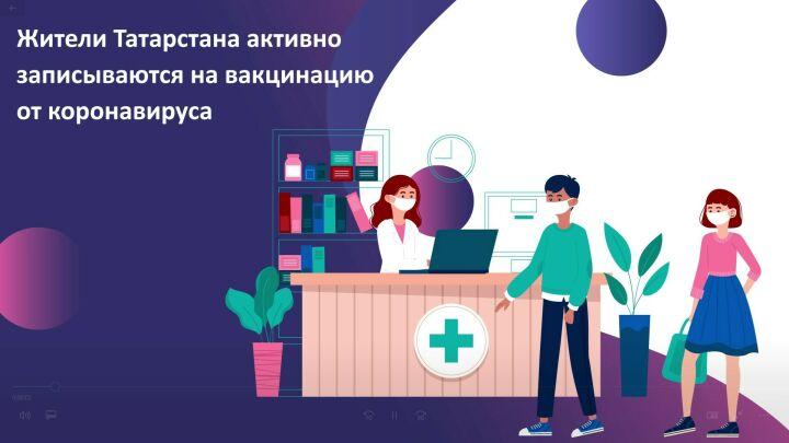 Татарстанцам напомнили, как записаться на прививку от ковида на портале госуслуг