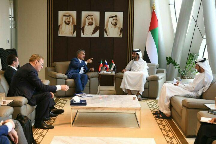 Президент РТ и глава Минэкономики ОАЭ обсудили сотрудничество в судостроении