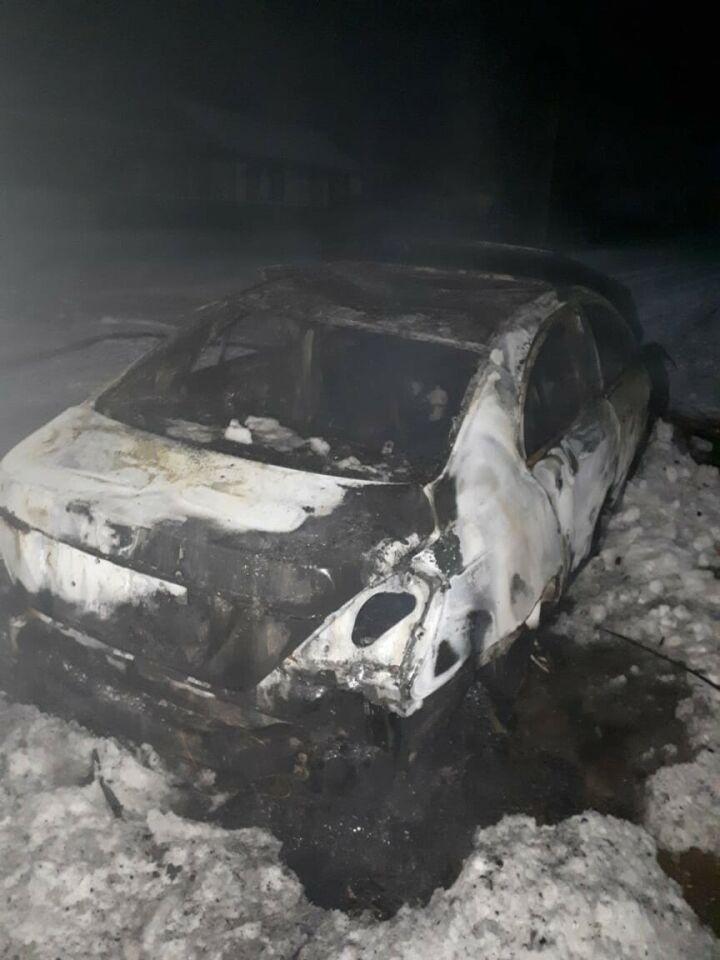 Водитель погиб в сгоревшем автомобиле в Азнакаевском районе РТ