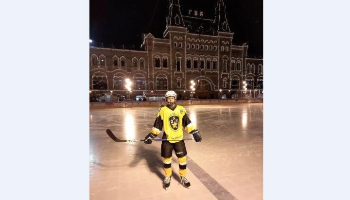 Мамадышский хоккеист принял участие в матче на Красной площади