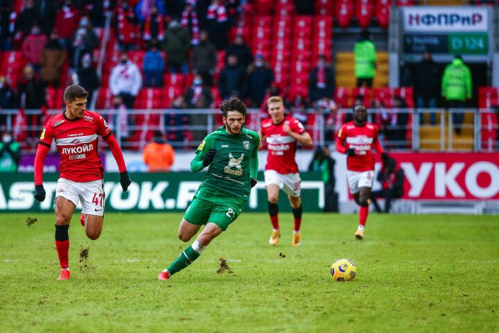 «Рубин» обыграл «Спартак» впервые с 2014 года и вышел на 7-е место в РПЛ