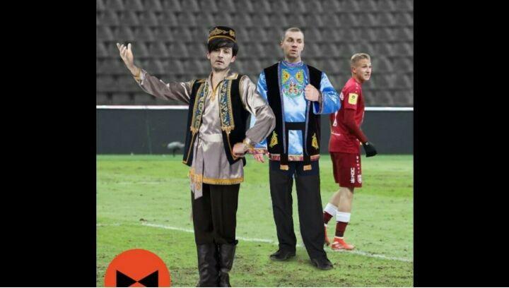 Иван Ургант одел футболистов «Зенита» в татарскую национальную одежду
