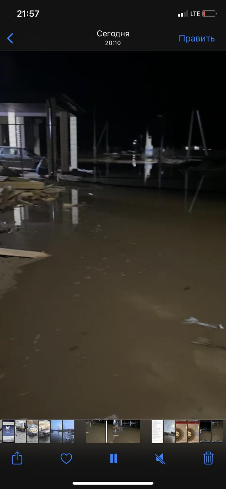 Из-за выхода реки из русла подтопило коттеджный поселок «Тургай» в РТ