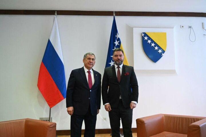 Минниханов и Кошарац обсудили поставку казанских «Ансатов» в Боснию и Герцеговину