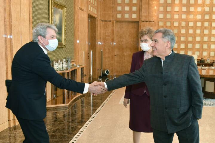 Минниханов, Шаймиев и Орджоникидзе обсудили проведение Комитета ЮНЕСКО в Казани