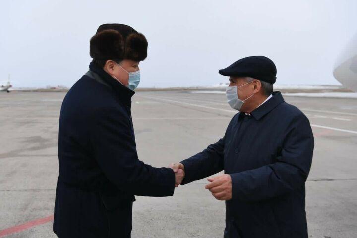 Минниханов прибыл с рабочим визитом в Казахстан