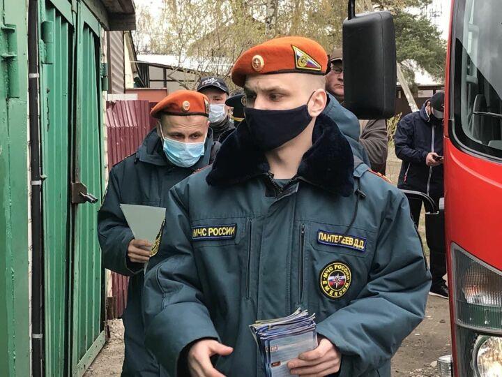 Траву не жечь, костры не разводить: жителям Аметьево напомнили о пожарной безопасности
