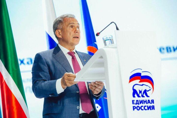 Высокая оценка партии и Татарстана: Минниханов возглавил список кандидатов в Госдуму