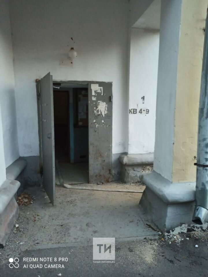 Пожилую женщину спасли из ночного пожара в казанской трехэтажке