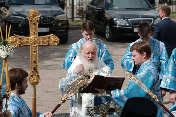 Патриарх Кирилл: «Кафедральный собор – памятник духу, мужеству, силе и вере народа»