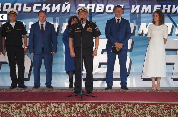 На Зеленодольском заводе им. Горького спустили на воду два катера спецназначения