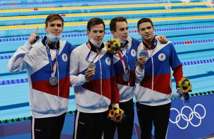 Российские пловцы завоевали серебро Олимпиады в эстафете 4×200 метров вольным стилем