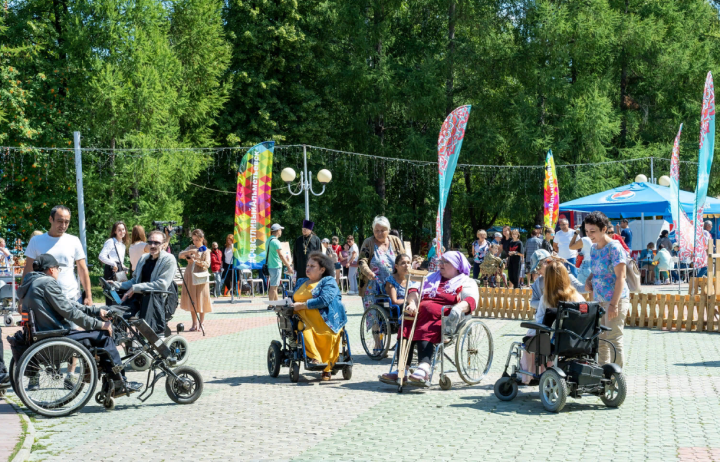 Сабантуй в Альметьевске собрал 200 татарстанцев с ограниченными возможностями