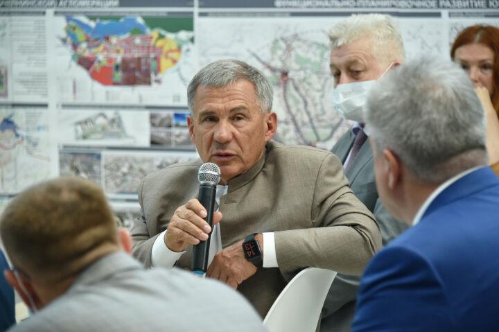 Президент РТ: «Между Казанью и близлежащими районами нужно создавать мощные промзоны»