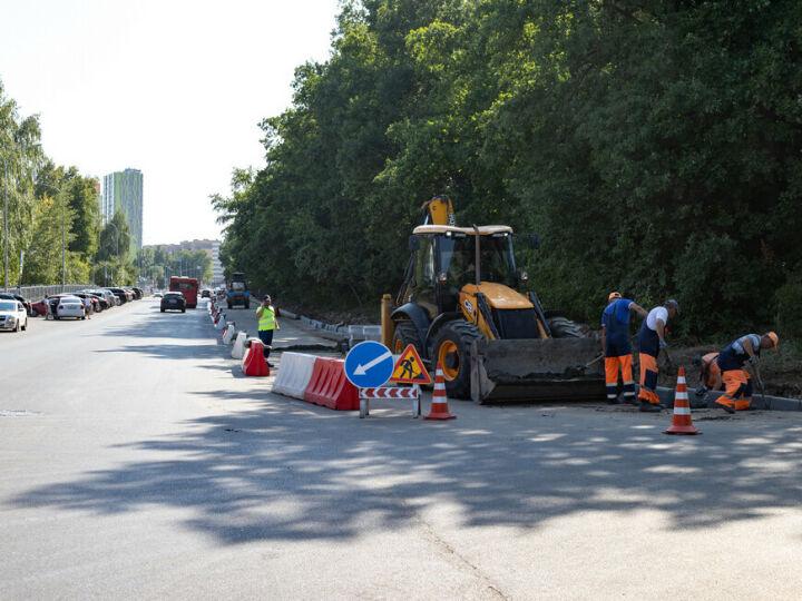 В Казани ремонт по нацпроекту на ул. Рауиса Гареева выполнен на 40%