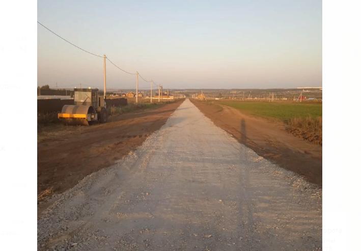В поселке для многодетных под Елабугой благоустроена дорога за 8,3 млн рублей