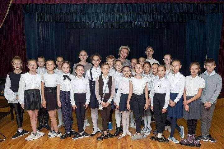 Ольга Павлова встретилась с воспитанниками Казанского хореографического училища