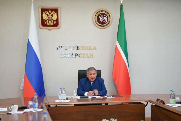 Минниханов принял участие в первом заседании Комиссии по научно-техническому развитию РФ