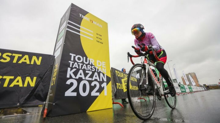 Более 500 спортсменов приняли участие в велогонке Tour de Tatarstan Kazan 2021