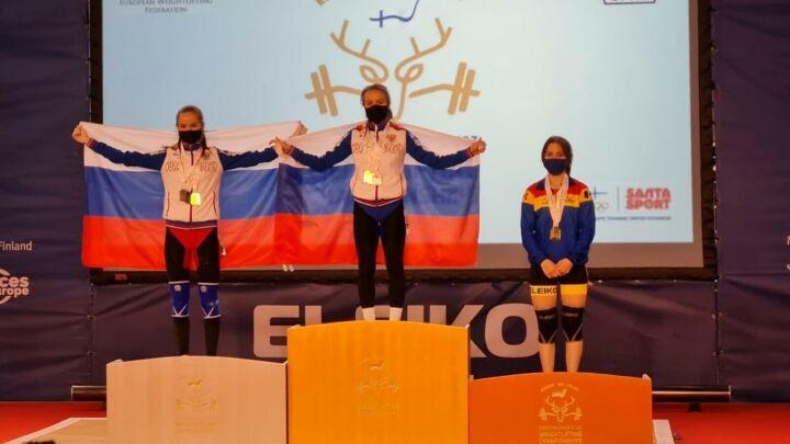 Татарстанская спортсменка Регина Шайдуллина стала чемпионкой Европы по тяжелой атлетике
