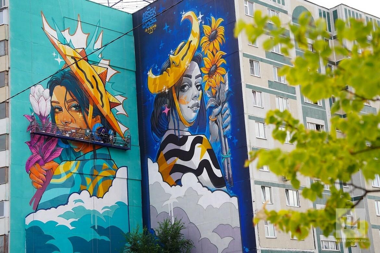Стрит-арт размером с дом: как муралы меняют жизнь спальных районов Казани