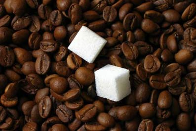 кофе,  сахар