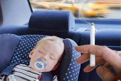 Дым от сигарет негативно влияет на детей
