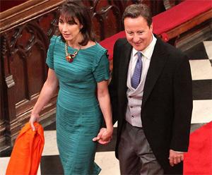 Дэвид и Саманта Кэмерон на свадьбе принца Уильяма