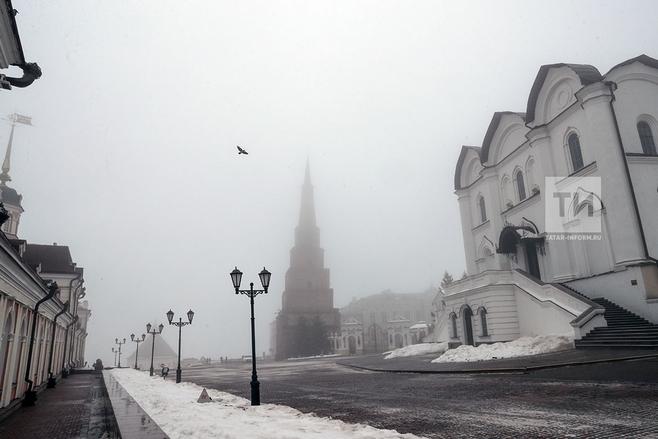 ВТатарстане предполагается туман, снег идо13 градусов мороза