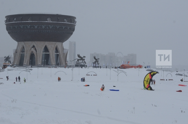 ВТатарстане предполагается  снег, туман идо-6°С