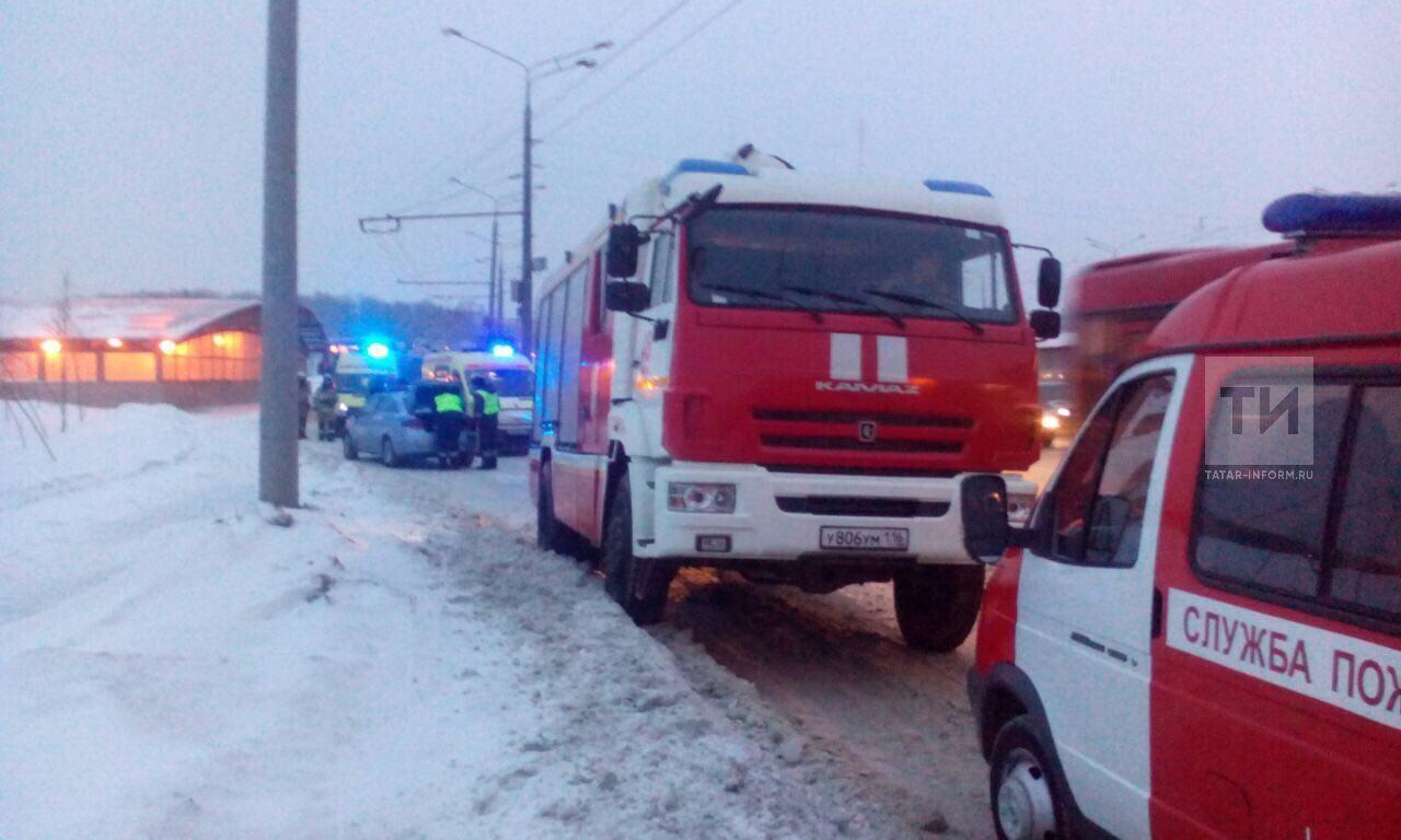 ВКазани столкнулись пассажирские автобусы, есть пострадавшие