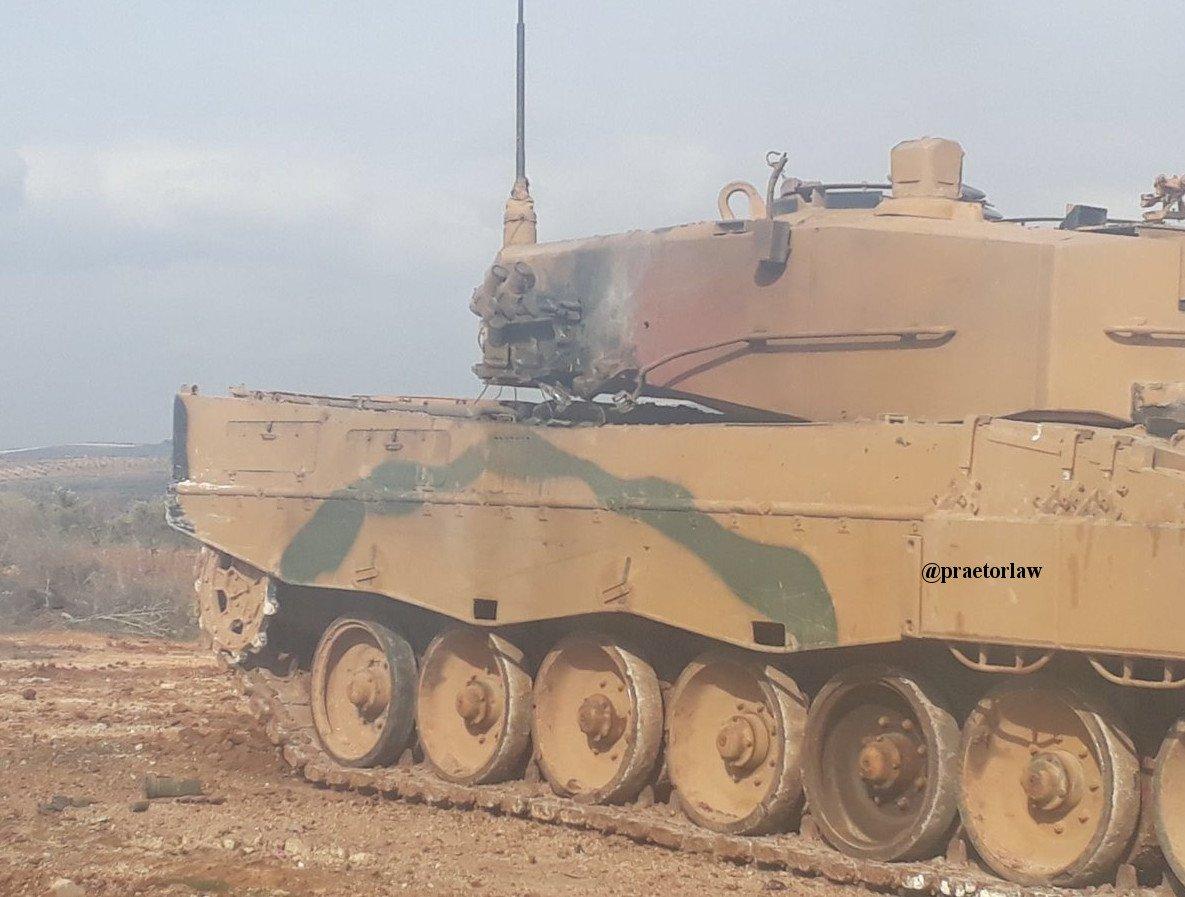 Курдские ополчения подбили 5 турецких танков вАфрине