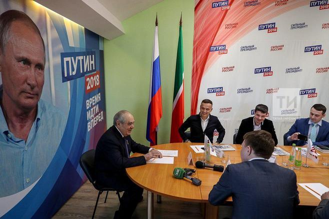 Табрис Яруллин в избирательном штабе Путина высказал предложения Шаймиеву
