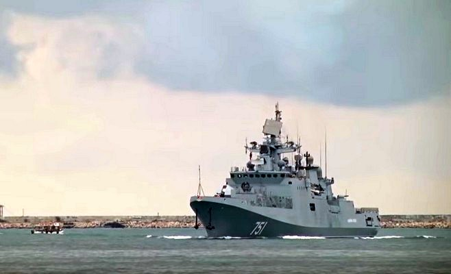 Русский  фрегат сракетами «Калибр» отправился вСредиземное море