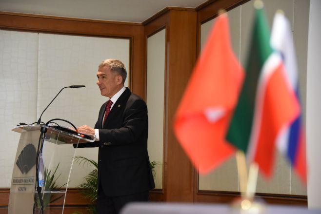 Минниханов назвал приоритетные сферы сотрудничества соШвейцарией