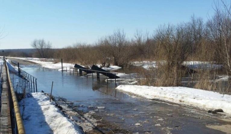 Два моста вНижегородской области оказались подтопленными