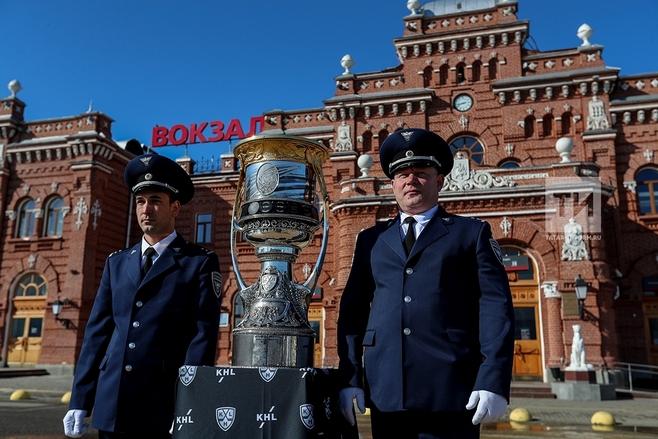 Кубок Гагарина доставлен из столицы вКазань напоезде