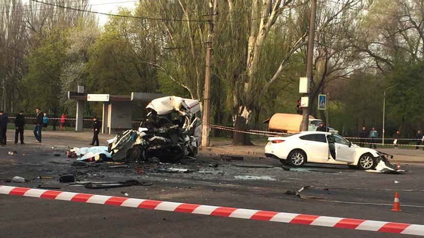 ВКривом Роге в трагедии  савтобусом имаршруткой погибли восемь человек