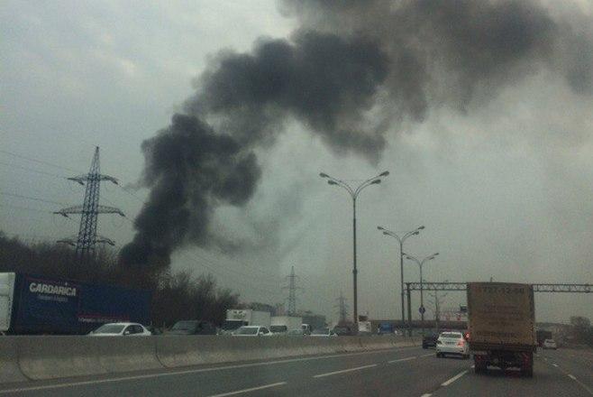 В столице России уМКАД сгорели девять машин
