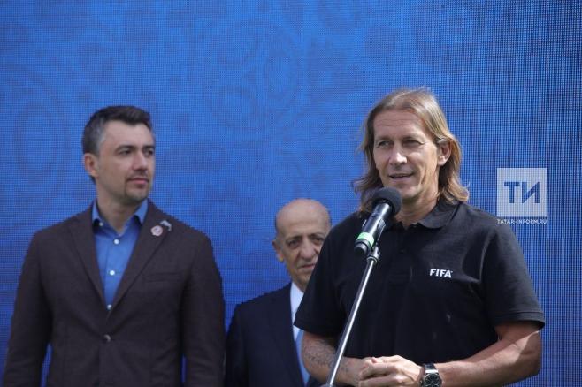 Экс-футболист «Реала» Мичел Сальгадо открыл вКазани Парк футболаЧМ