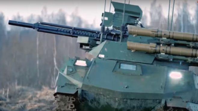Размещено видео испытаний боевого робота-танка «Уран-9»