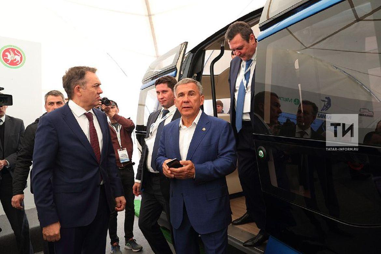 Президент РТ проехал в беспилотном электробусе от ПАО «КАМАЗ»