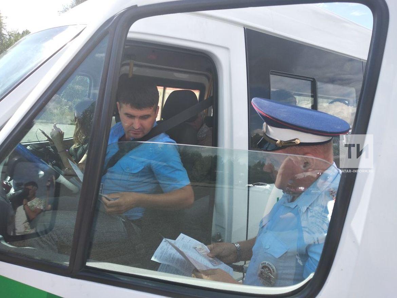 Во время рейда на водителей автобусов полицейские Казани поймали восемь нарушителей