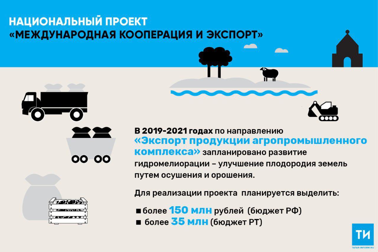 В рамках национальных проектов на гидромелиорацию земель в Татарстане направят более 185 млн рублей
