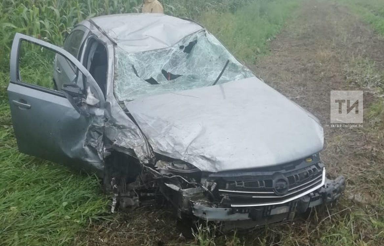 Две иномарки вылетели в кювет после столкновения на трассе Альметьевск-Набережные Челны