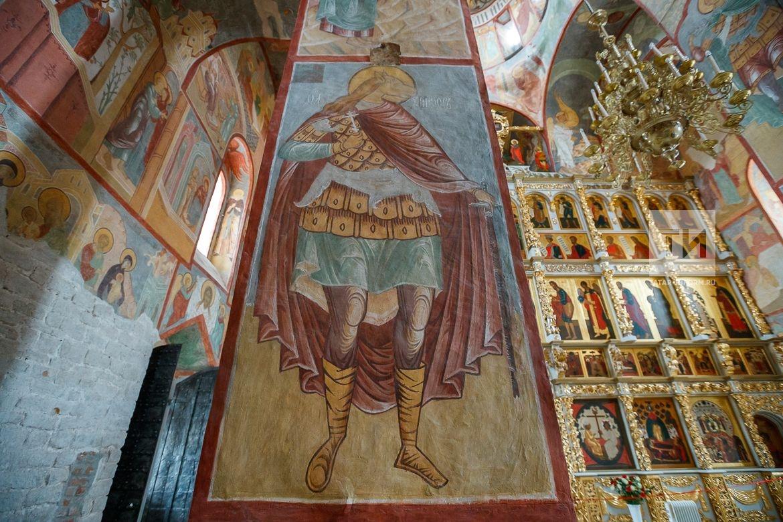 Открытие Успенского собора с фресками для туристов